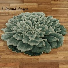 Tina Bloom Flower Shaped Round Rugs