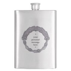 personalized inscription hip flask DOUBLE UROBOROS Alcohol Storage, Irish Whiskey, Ancient Symbols, Wine And Spirits, Gifts For Father, Light Colors, Liquor, Barware, Kitchen Accessories