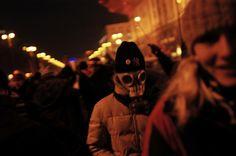 """UKRAINE. Kiev. November 2004. The """"Orange Revolution."""""""