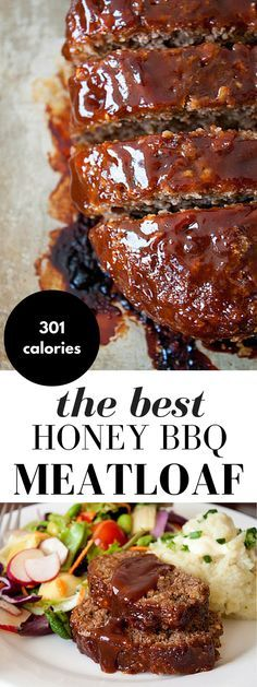 The Best Honey Barbecue Meatloaf Recipe Honey Barbecue Meatloaf Recipe! This meatloaf recipe is made with bbq sauce and honey for added smokiness, a little sweetness, and moisture. It's everyone's favorite comfort food! Barbecue Meatloaf Recipes, Bbq Meatloaf, Beef Steak Recipes, Good Meatloaf Recipe, Beef Recipes For Dinner, Ground Beef Recipes, Meat Recipes, Cooking Recipes, Beef Meals