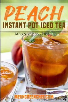 Peachy, sweet, and so refreshing! Versatile and ridiculously easy to make too. Sweet Tea Recipes, Iced Tea Recipes, Drink Recipes, Homemade Cough Remedies, Best Nutrition Food, Southern Sweet Tea, Peach Ice Tea, Green Chef, Summer Drinks