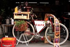CharRies Café is a Mobile Bicycle Cafe, traveling the world, serving fresh hand-brewed coffee and homemade sweets on a bicycle. Using and original blend of beans roasted by local roasters in Nagoya, Japan and Berlin, Germany. Mobile Restaurant, Mobile Cafe, Mobile Shop, Mobile Kiosk, Coffee Carts, Coffee Truck, Bike Coffee, Nagoya, Bicycle Cafe