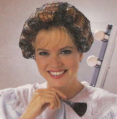 the hair net that held all the curlers in place