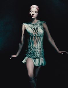 Anya Taylor-Joy is a Goddess in Haute Couture Photos | W Magazine in Atelier Versace SS 17