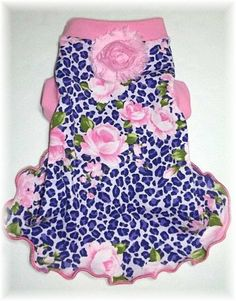 Pet Clothing To Order Purple and Pink Roses by paulinesfashions, $18.00