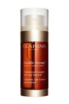 Double sérum Clarins http://www.vogue.fr/beaute/buzz-du-jour/articles/bombe-cosmetique/17588