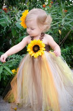 Lil& Pumpkin Thanksgiving Fall Sunflower Tutu Dress is part of First birthday dresses Decorate your Lil& Pumpkin in our Thanksgiving Fall Sunflower Tutu Dress for a Newborn, Baby, Infant, or Toddler - Sunflower Birthday Parties, Pumpkin Birthday Parties, Sunflower Party, Sunflower Baby Showers, Giant Sunflower, Fall Sunflower Weddings, Thanksgiving Birthday, Fall First Birthday, First Birthday Dresses