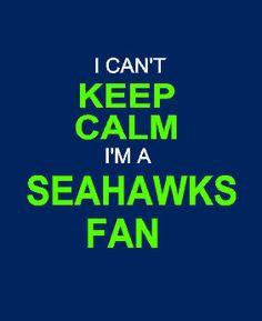 i can't KEEP CALM i'm a Seattle Seahawks fan long sleeve shirt on Etsy, $35.00