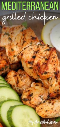 This chicken skewer recipe uses a simple marinade to infuse big Greek flavors including herbs and lemon. You can marinate the chicken for as little as 30 minutes – or you can make the skewers ahead and leave them in the marinade overnight if you're planning an event and need to work ahead. #mealprep #chickenskewers #grilledchickenskewers #greekgrilledchicken Greek Grilled Chicken, Grilled Chicken Skewers, Grilled Chicken Recipes, Baked Chicken Recipes, Turkey Recipes, Chicken Breast Recipes Healthy, Healthy Eating Recipes, Vegetarian Recipes, Easy Family Meals
