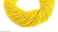 Baule Tamba Necklace Belt Yellow Tiny Seed Beads African 127 Strands