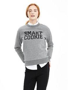 """Smart Cookie"" Graphic Sweatshirt | Banana Republic"