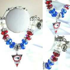 Do you have your NFL gear? Charm Bracelets On Sale Now! New England Patriots Check out this item in my Etsy shop https://www.etsy.com/listing/264335327/nfl-new-england-patriots-charm-bracelet