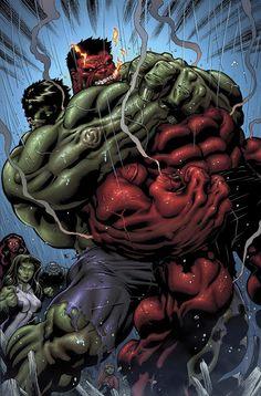 Hulk Hulk and Rulk Fighting Marvel Comics Poster - 30 x 46 cm