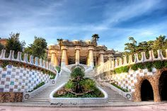 Park Guell Stairs in Barcelona