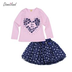 Cheap clothes cartoon, Buy Quality clothes box with lid directly from China clothes music Suppliers: 2017 Fashion spring brand domeiland baby clothing Outfits Sets Kids Girl Long Sleeve Rhinestone love Shirts bow skirts clothes Fashion 2017, Spring Fashion, Girl Fashion, Fashion Outfits, Fashion Trends, Bow Skirt, Skirt Set, Love Shirt, T Shirt