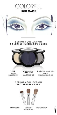 COLORFUL: Blue Matte HOW TO. #sephora #sephoracollection #eyeshadow