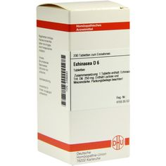 ECHINACEA HAB D 6 Tabletten:   Packungsinhalt: 200 St Tabletten PZN: 03486693 Hersteller: DHU-Arzneimittel GmbH & Co. KG Preis: 10,19 EUR…