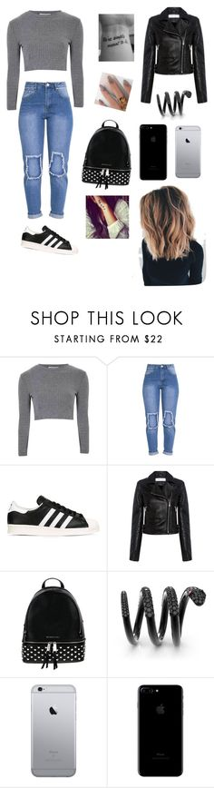 """""""Going Campus"""" by roli17 ❤ liked on Polyvore featuring Glamorous, adidas Originals, IRO and MICHAEL Michael Kors"""