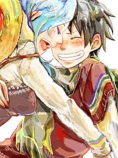 Luffy and Vivi (one piece) One Piece Ship, One Piece 1, One Piece Luffy, One Piece Anime, One Piece Main Characters, Fantasy Characters, Manga Anime, One Piece Series, The Pirate King