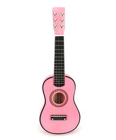 This Fuchsia Classic Acoustic Beginner Guitar Set by Velocity Toys is perfect! #zulilyfinds