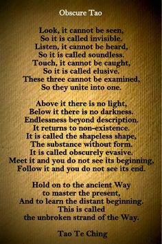Obscure Tao - Tao Te Ching