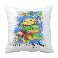I love Lady Bug Pillow