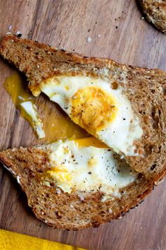egg in a nest..(as we use to call it)   grilled egg right in the middle of a piece of toast