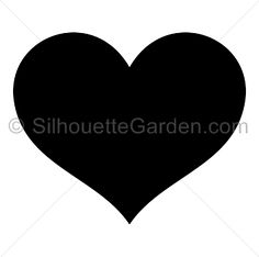 Heart silhouette clip art. Download free versions of the image in EPS, JPG, PDF, PNG, and SVG formats at http://silhouettegarden.com/download/heart-silhouette/