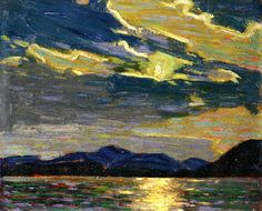Tom Thomson (Canadian, 1877-1917) | Hot Summer Moonlight, 1915