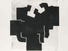 Eduardo Chillida (1924-2002), Aldibatu V. Etching. 76cm H x 100cm W.