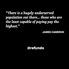 Join our #movement to help the #underserved. Repin if you support Refundo's #mission.