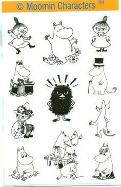 Bilderesultat for moomin line art Moomin Tattoo, Les Moomins, Theme Tunes, Moomin Valley, Art Manga, Drawn Art, Tove Jansson, Art Graphique, Little My