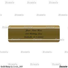 Gold Shiny Label