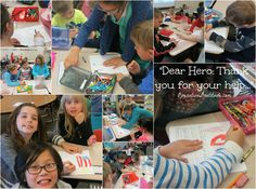 "We're grateful for the Orchard Hollow students who wrote 200 ""thank you"" letters to the troops!  #MentorOH #Ohio"