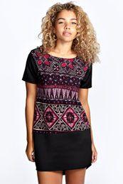 Farah Colour Block Shift Dress