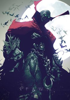 Spawn designed by panelgutter - posted under Digital Art tagged with: Books & Novels, Cartoons & Comics, Character, Drawings, Fan Art, Paintings & Airbrushing, Spawn, Superhero by Fribly Editorial
