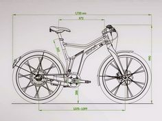 Mechanical Projects, Mechanical Engineering Design, Bicycle Sketch, Bike Craft, Recumbent Bicycle, Bicycle Painting, Bike Parking, 3d Drawings, Bicycle Design