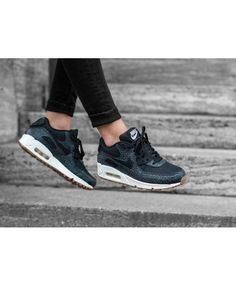 innovative design 03f4b 9c773 Cheap Nike Air Max 90 Premium Black Sail Gum Medium Brown Black Womens  Clearance Nike Air