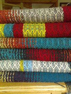 hand woven scarves, Blankets, cowls from lambswool. produced in the west of Ireland by hand on a manual powered floor loom. Woven Scarves, Textile Art, Loom, Blankets, Hand Weaving, Textiles, Bedroom, Fabric, Tejido