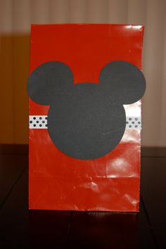 Mickey Mouse Favor Bags Red White and Polka Dot by KeepsakeToppers, $11.00