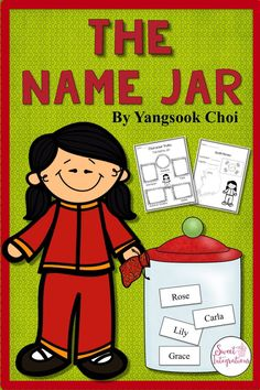 The Name Jar - Book Study and Back to School Activities Diversity Activities, Teaching Activities, Teaching Reading, Teaching Ideas, Teaching Tools, Last Day Of School, Beginning Of School, Comprehension Questions, Reading Comprehension