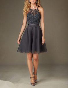 2016 Custom Charming Chiffon Homecoming Dress,Beading Halter Evening Dress,Short Homecoming Dress