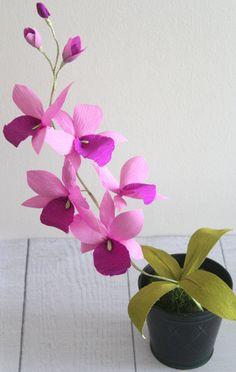 Flores de papel papel de orquídea orquídea de por adornflowers