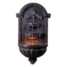 Check out the Kenroy Home 50024PLBZ San Marco Wall Fountain in Plum Bronze priced at $268.20 at Homeclick.com.