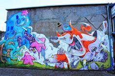 Tentacleoverdoese by Herr von Bias (The Weird) & Erase & Arsek - Street Art and Graffiti in Berlin