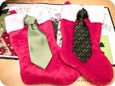 Missionary Mail: Christmas - cute stocking and the missionary and their companion can wear the tie after Christmas as well.