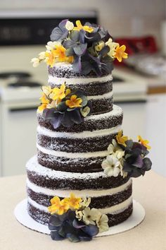 I made a naked wedding cake #food #foodporn #recipe #cooking #recipes #foodie #healthy #cook #health #yummy #delicious