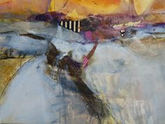Sunset Land by Beth Bobey mixed media