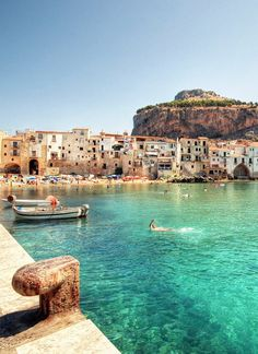 Cefalu Italy. I have stood on the pier where this photograph was taken! Oh how I want to go back! <3!
