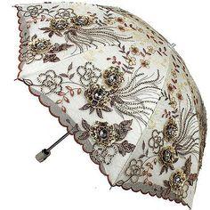 New Women Lady Folding Anti-UV Sun Rain Parasol Elegant Embroidery lace Umbrella